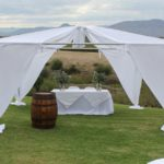 du Vlei outdoor wedding gazebo on Berg River