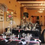 du Vlei indoor wedding reception, long tables